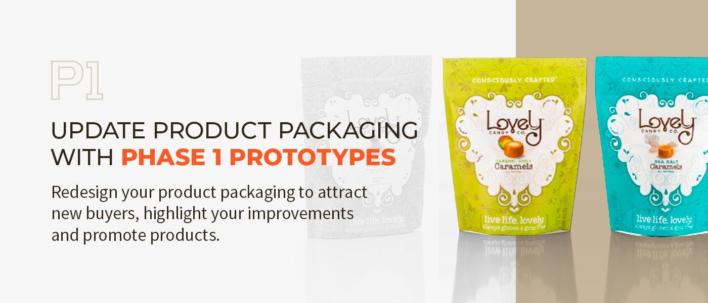 Package examples - Caramel sweets bag